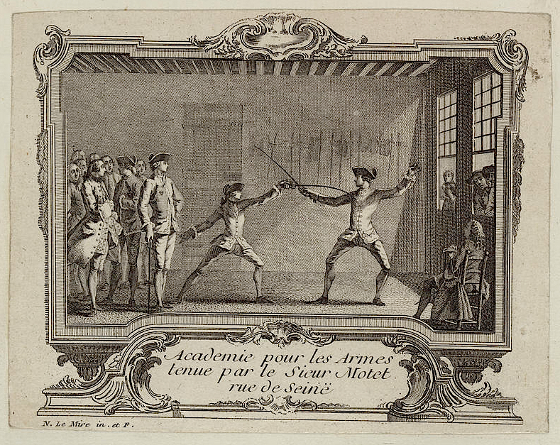 Etiquette in the 18th and 19th Century Fencing Schools — Part I: 18th Century