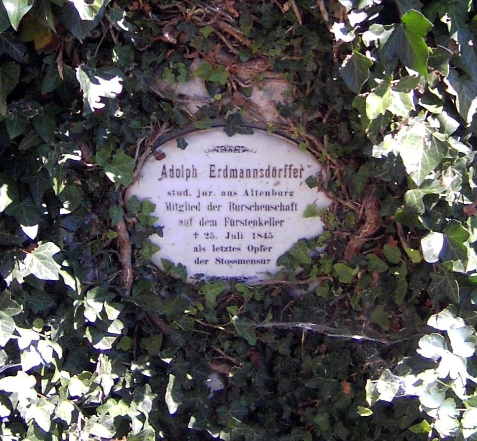 Last Blood: The grave of the last German student killed in a thrust duel