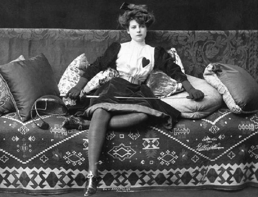 Anna Held, married to Florenz Ziegfeld